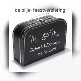 Mr & Mrs  koffertje