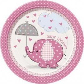 bordjes baby shower  pink