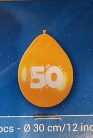 ballonnen goud 50