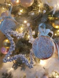 Blauwe Beschuit met muisjes hanger mini