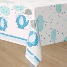 tafelkleed baby shower bleu