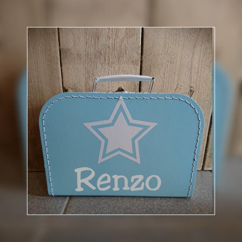 Koffertje met naam blauw