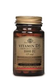 Vitamine D3 - 1000 iu 100 kauwtablet