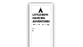 Little boys have big adventures