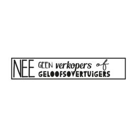 Brievenbus sticker NEE/GELOOF