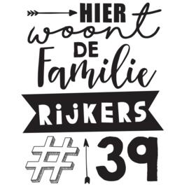Raamsticker Familie Standaard A4