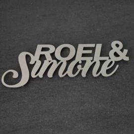 Naambord Voornamen Strak & Stoer RVS
