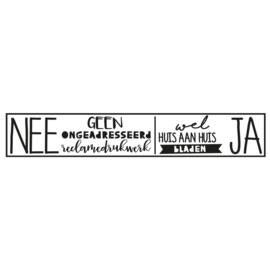 Brievenbus sticker NEE/JA