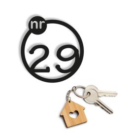 Huisnummer het nieuwe huis