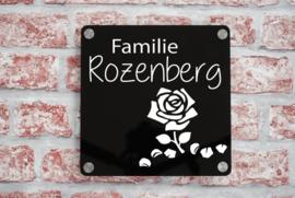 Naambord Familie Vierkant Met Plaatje Plexiglas