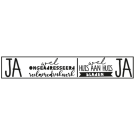 Brievenbus sticker JA/JA