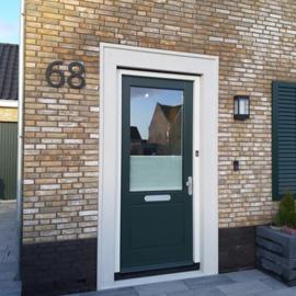 Huisnummer Strak A4 Zwart RVS