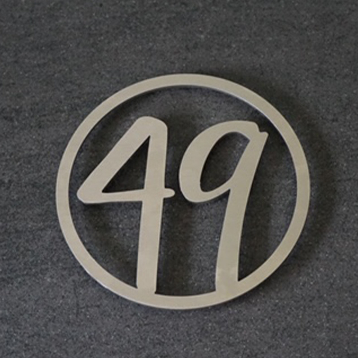 Huisnummer Rond Sierlijk RVS