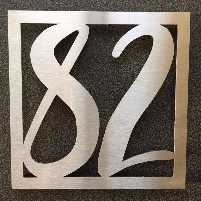 Huisnummer Vierkant Sierlijk RVS