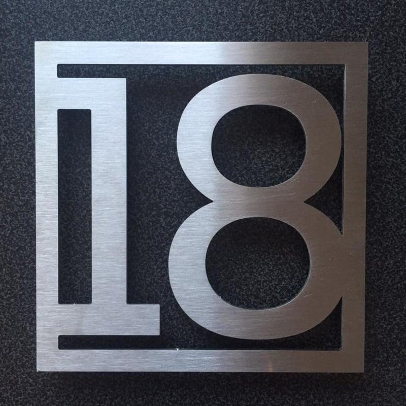 RVS Huisnummer 18