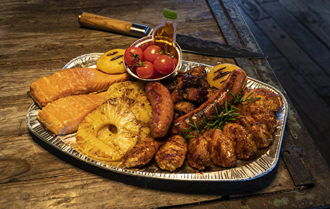 Barbecue platter large