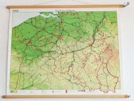 """Oude landkaart """"Belgie en Luxemburg""""."""