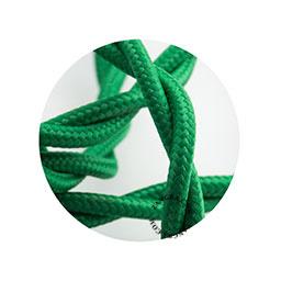 Textielsnoer gedraaid groen