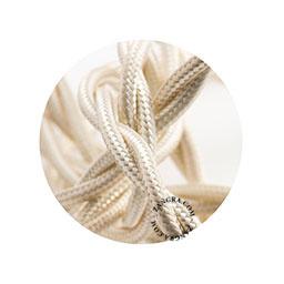 Textielsnoer gedraaid ivoor