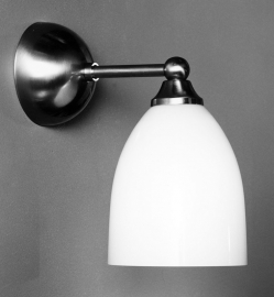 Wandlamp Recht + Beker opaal