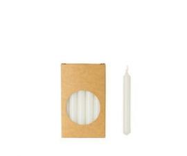 Set 20 kaarsjes white D:12mm