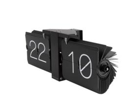 Flip-over klok zwart/zwart
