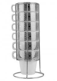 Koffie set 'Lace', zilver
