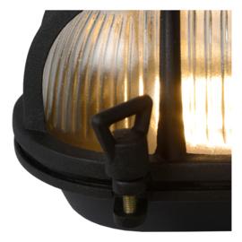 Wand/plafondlamp mat zwart