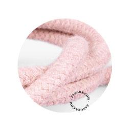 Textielsnoer hennep roze