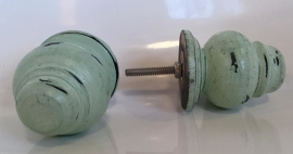 Knop hout 'pion' mint XL