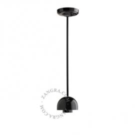 Hanglamp porselein egg zwart