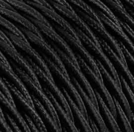 Textielsnoer torcido zwart 3 polig