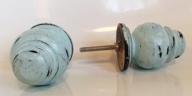 Knop hout 'pion' blauw XL