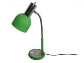 Bureaulamp groen/chroom