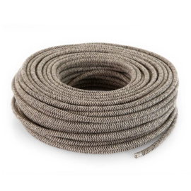 Textielsnoer zand-canvas zebra