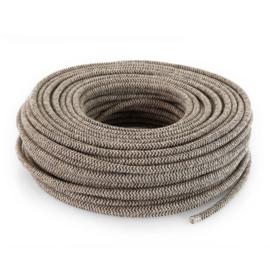 Textielsnoer zand-canvas bruin zebra