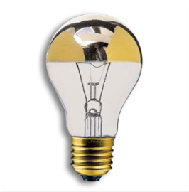 Kopspiegellamp goud 60 w standaard