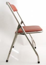 Vintage opklap stoel buisframe