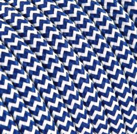 Textielsnoer d.blauw-wit zebra