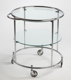 Tea trolley 2 glasplaten