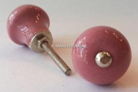"Knop ""Paddestoel"" roze"