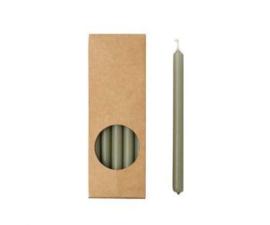 Set 20 kaarsen eucalyptus D:12mm H:175mm
