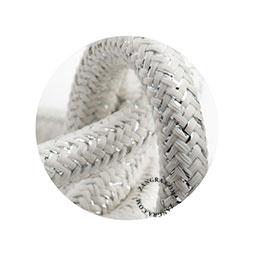 Textielsnoer wit-zilver mix