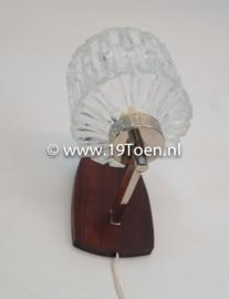 Wandlamp hout/glas