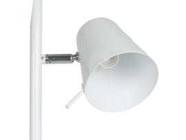 Vloerlamp triple Z wit