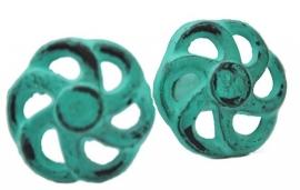 Knop metaal groen