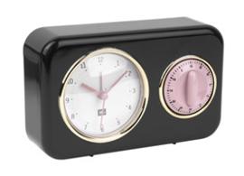 Klokje met timer zwart