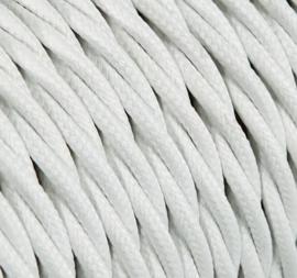 Textielsnoer torcido wit 3 polig
