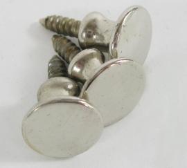 Knopje nikkel 1,5 cm