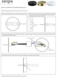 Wand-/ plafondlamp flexibele arm zwart